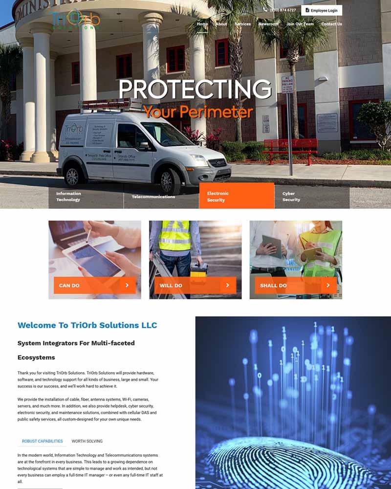 TriOrb Florida Website Design