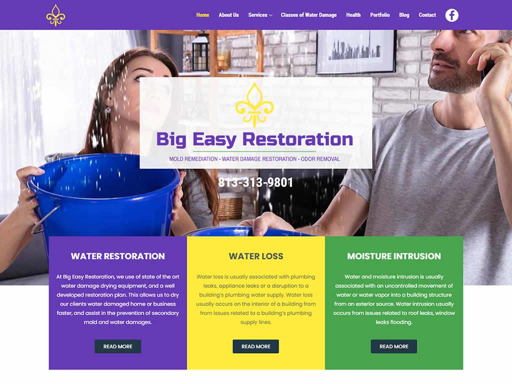 Tampa Mold Restoration WordPress Website