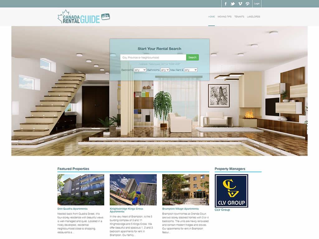 Canada Rental Guide WordPress Website Design
