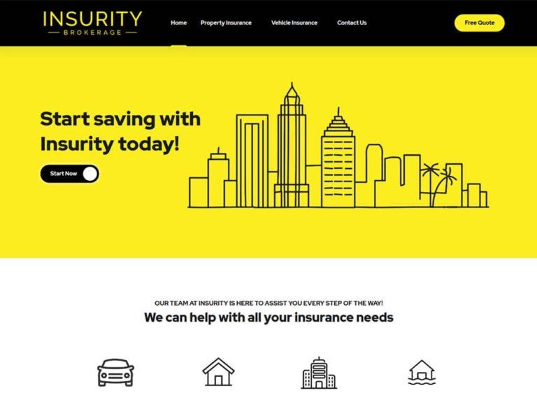 Florida Insurance Company WordPress Website Design