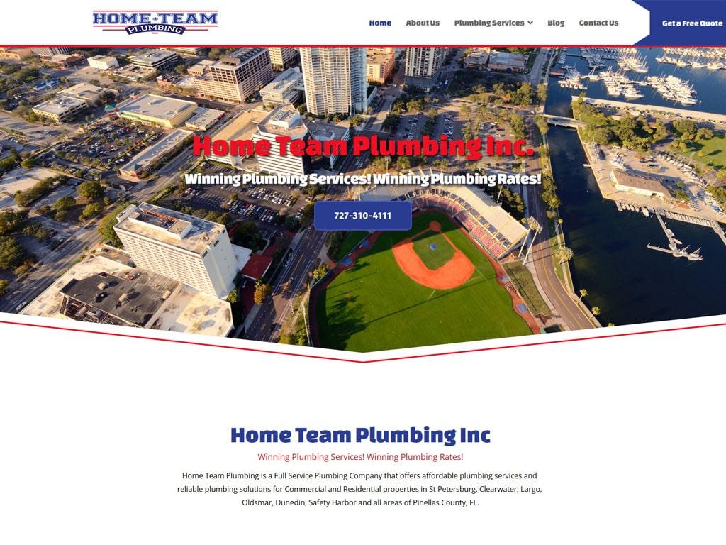 Home Team Plumbing WordPress Website Design