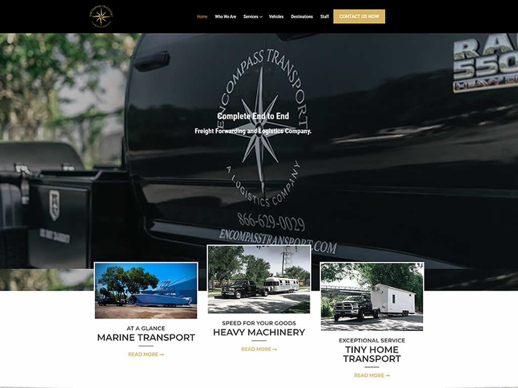 Encompass Transport WordPress Website Design