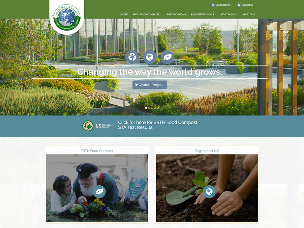 Erth Products WordPress Website Design