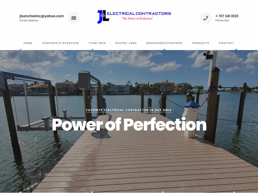 J & L Electric Custom Website Design