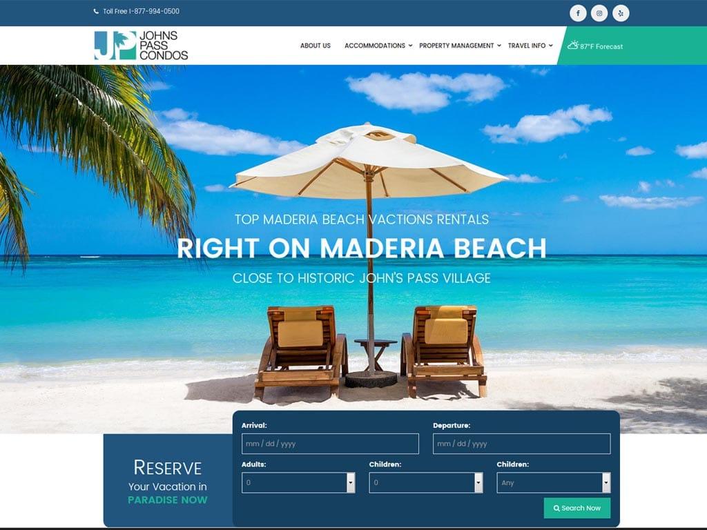 Johns Pass Condos WordPress Website Design