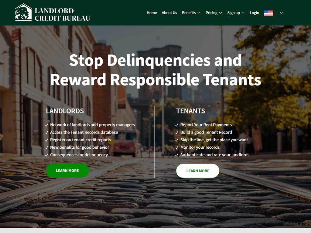 Landlord Credit Bureau WordPress Website Design