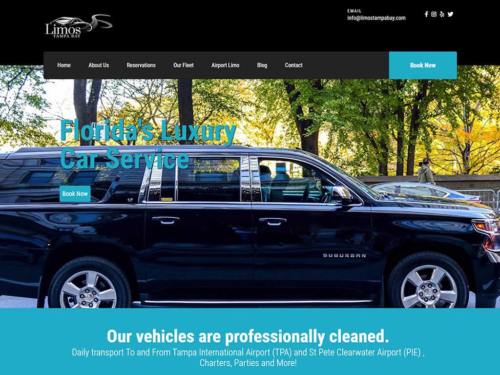 Limos Tampa Bay Custom Web Design
