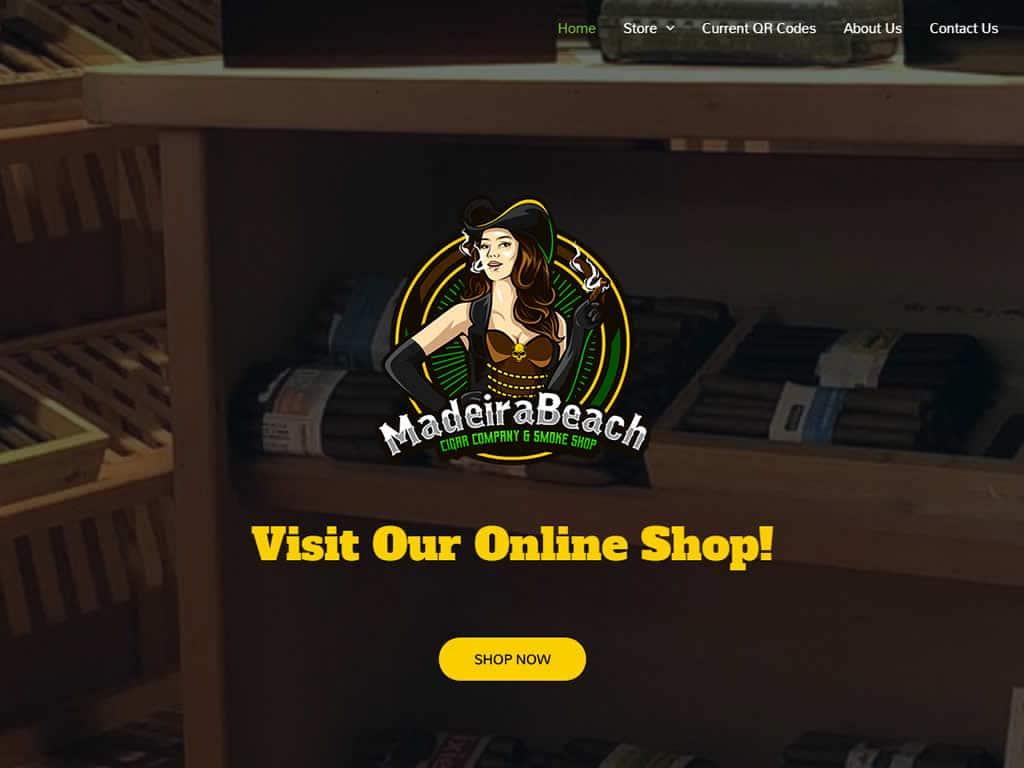 Madeira Beach Cigar Bar WordPress Website Design