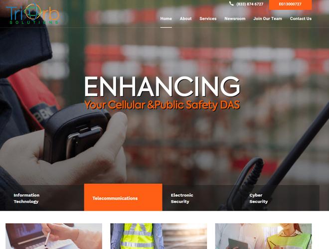 TriOrb Solutions Website Design