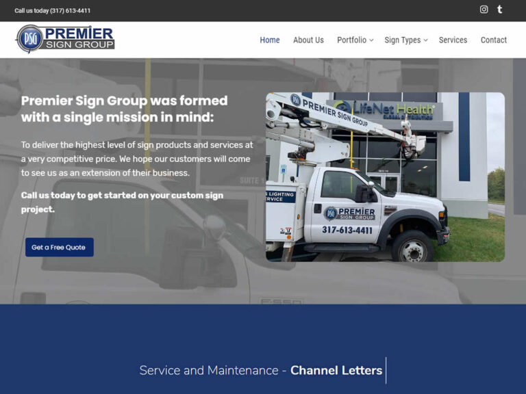 Premier Sign Group WordPress Website Design