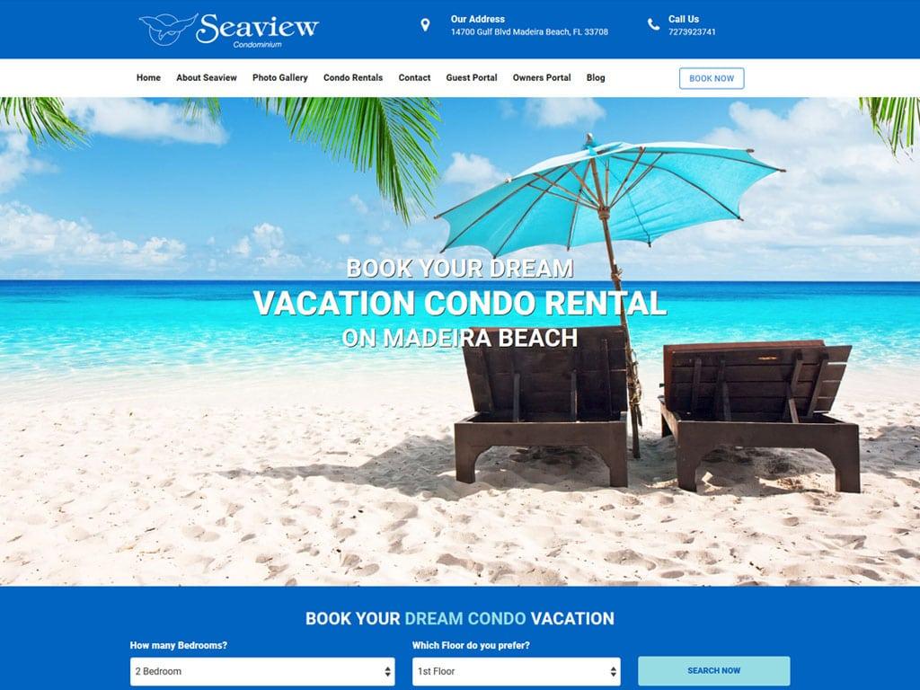 Portfolio Website Examples - Seaview Condos