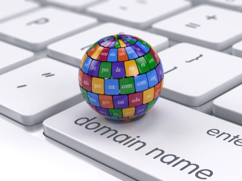 Website Design Domain Name Globe on Keyboard