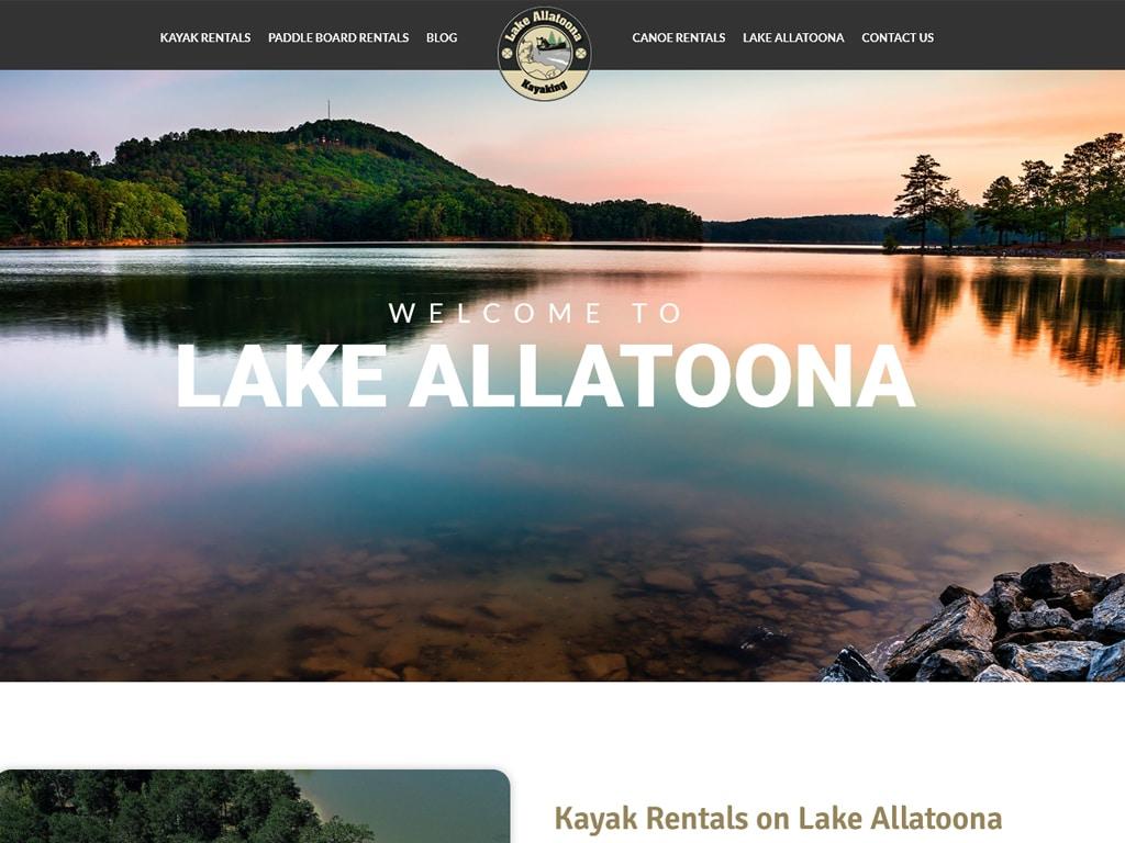 Lake Allatoona Kayaking WordPress Design